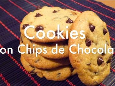 Receta de Galletas Cookies Americanas - Chocolate Chip Cookies Recipe