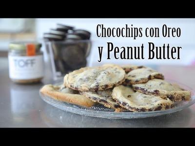 RECETA: GALLETAS DE CHOCOCHIPS CON OREO Y PEANUT BUTTER