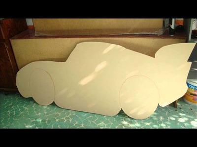 Tapa para cama de niño con la foto del rayo macqueen un gran de talle de decoracion