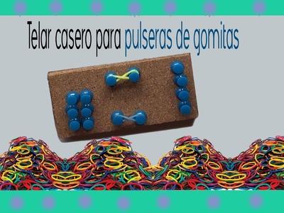 Telar casero para pulsera de gomitas