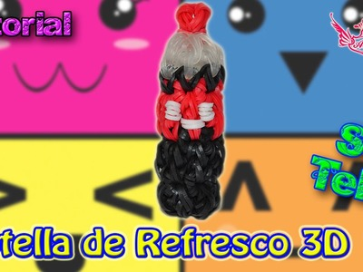 ♥ Tutorial: Botella de Refresco en 3D (sin telar) ♥
