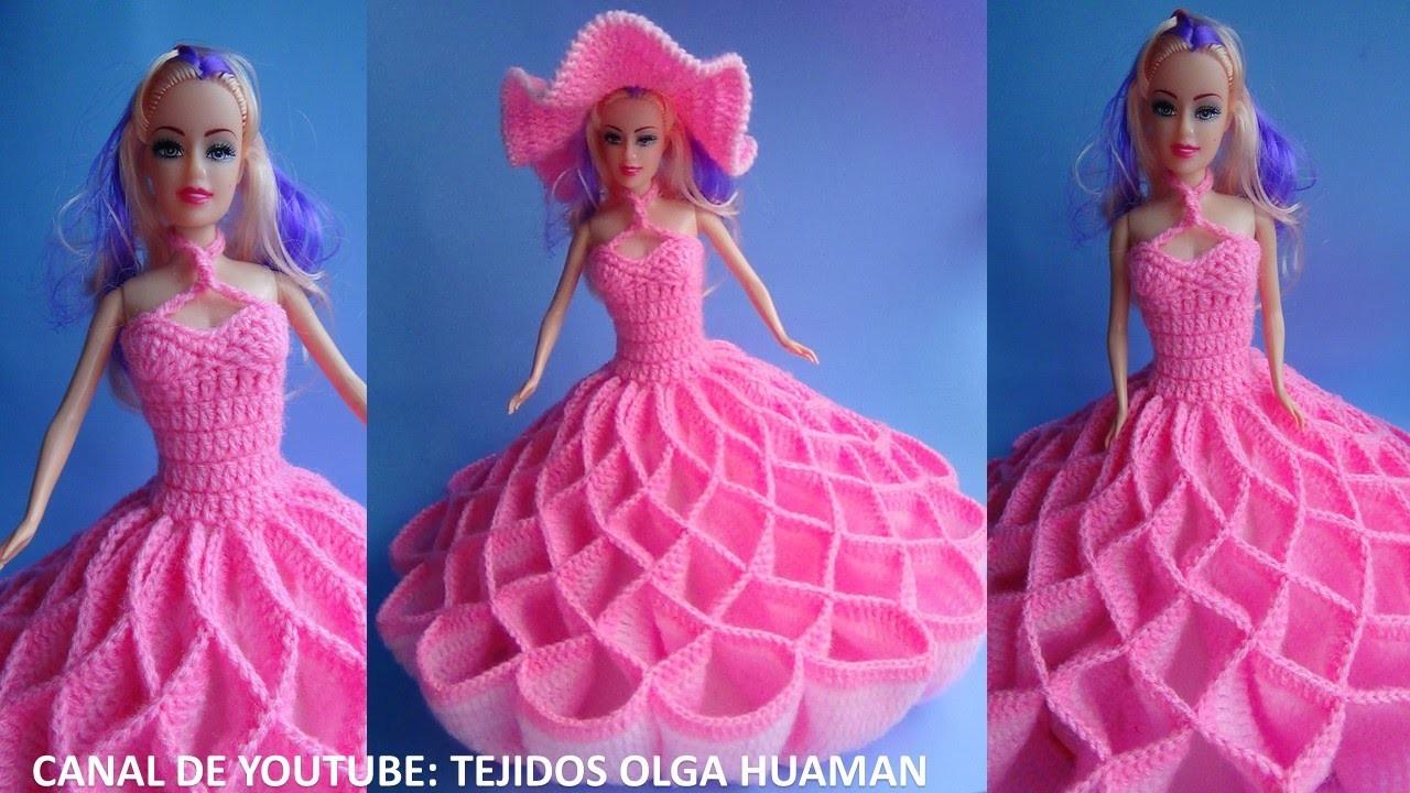 Vestido tejido a crochet para muñeca, video 2