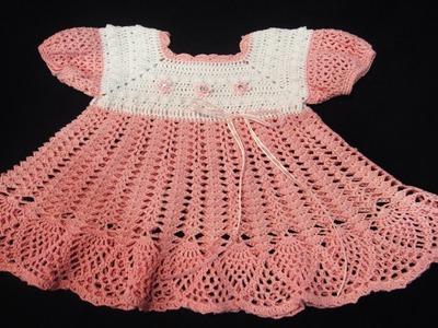 VESTIDOS BEBE Tejidos en Crochet Ganchillo Parte 2 ( diseños )
