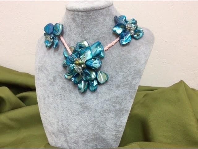 Como hacer collar con piedras artificial - How to make artificial stone necklace