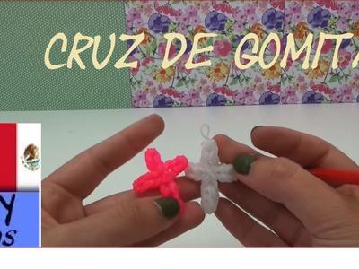 CÓMO HACER CRUZ DE GOMITAS - SIN TELAR - TUTORIAL EN ESPAÑOL - DIY