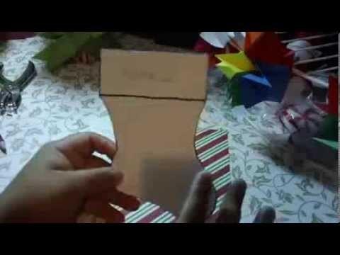 Como hacer felicitacion Navidad SCRAPBOOK