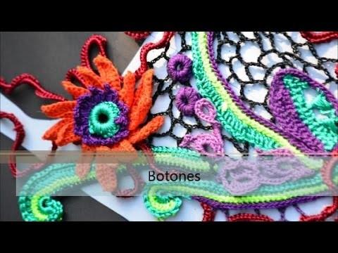 Crochet irlandes - Botones paso a paso
