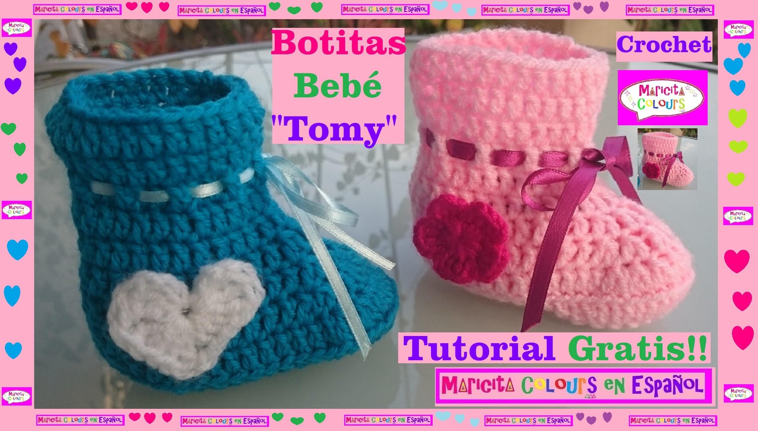 Crochet Tutorial Botitas Recién Nacidos
