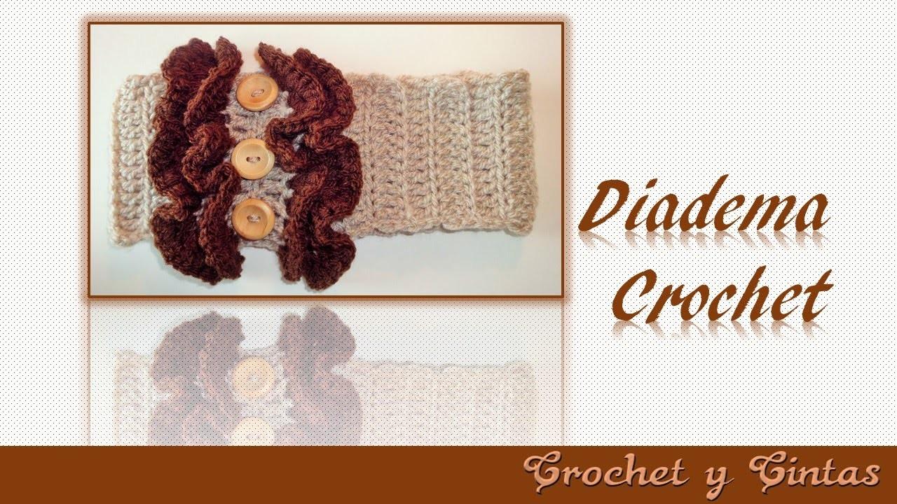 Diadema – vincha fruncida tejida a crochet