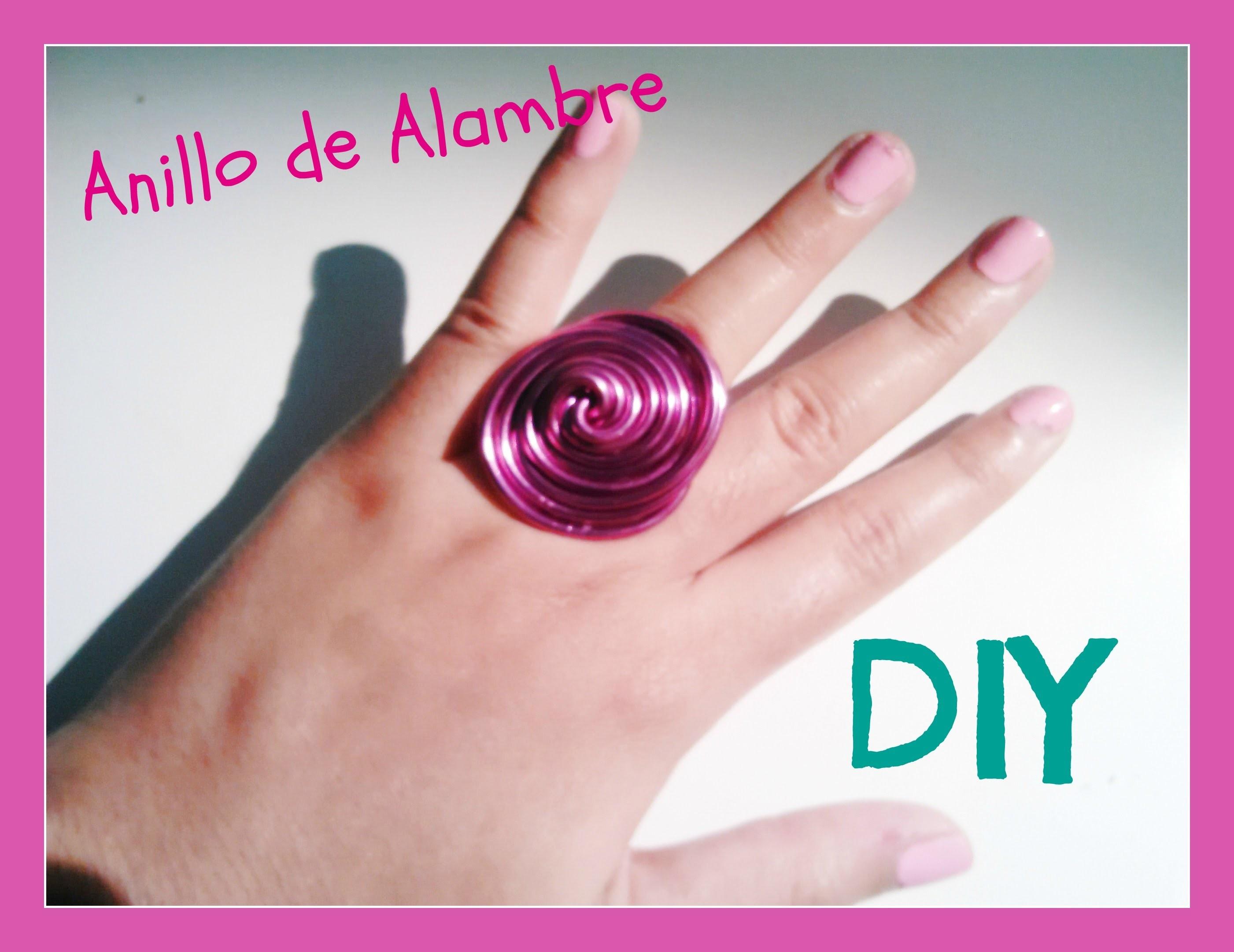 DIY: Anillo de alambre en forma de espiral