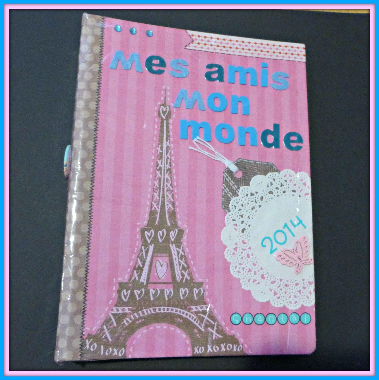 Mini álbum Scrapbook °Haz una página conmigo° Mes amis, mon monde #2