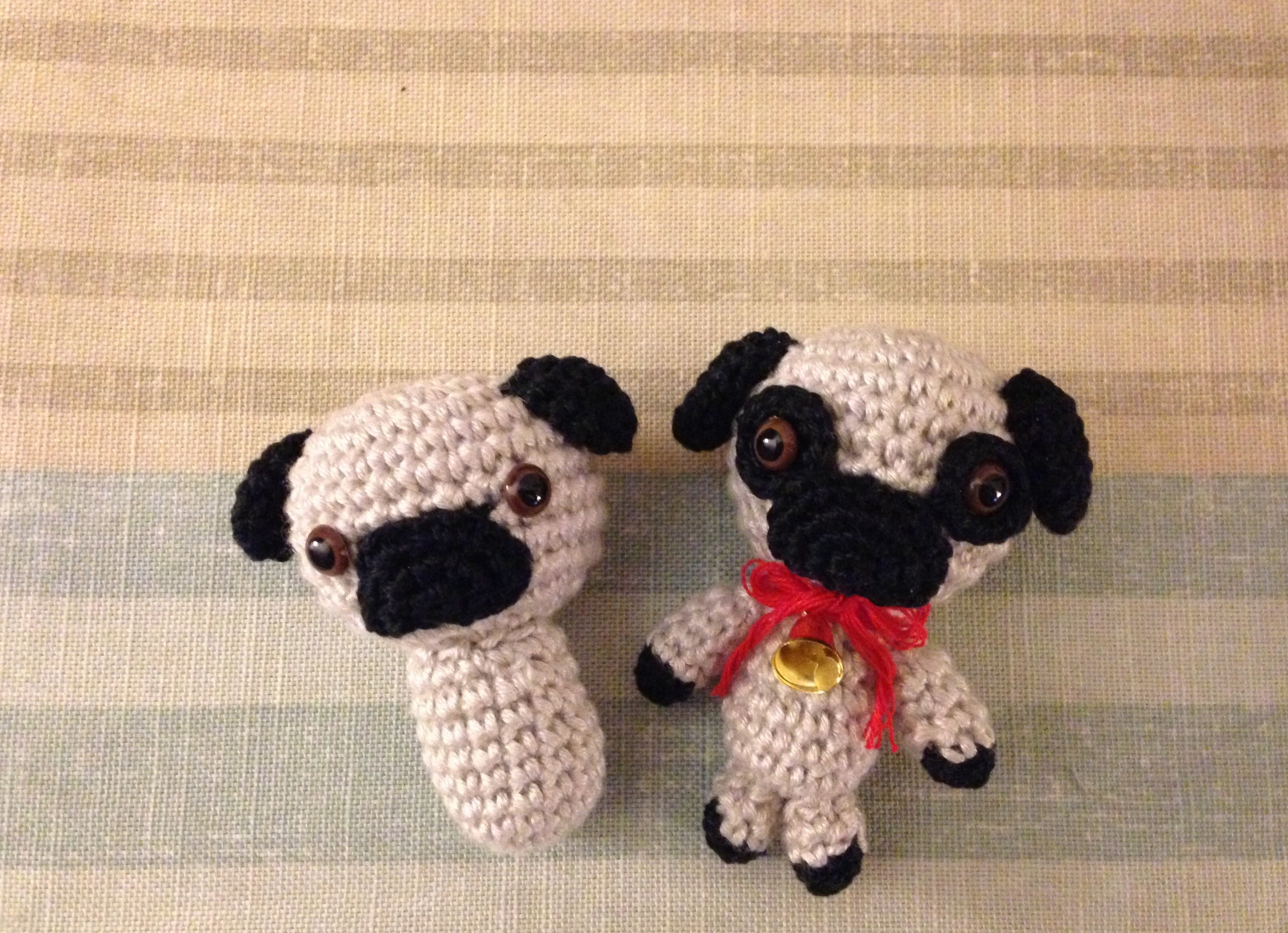 Perro pug, amigurumi, crochet