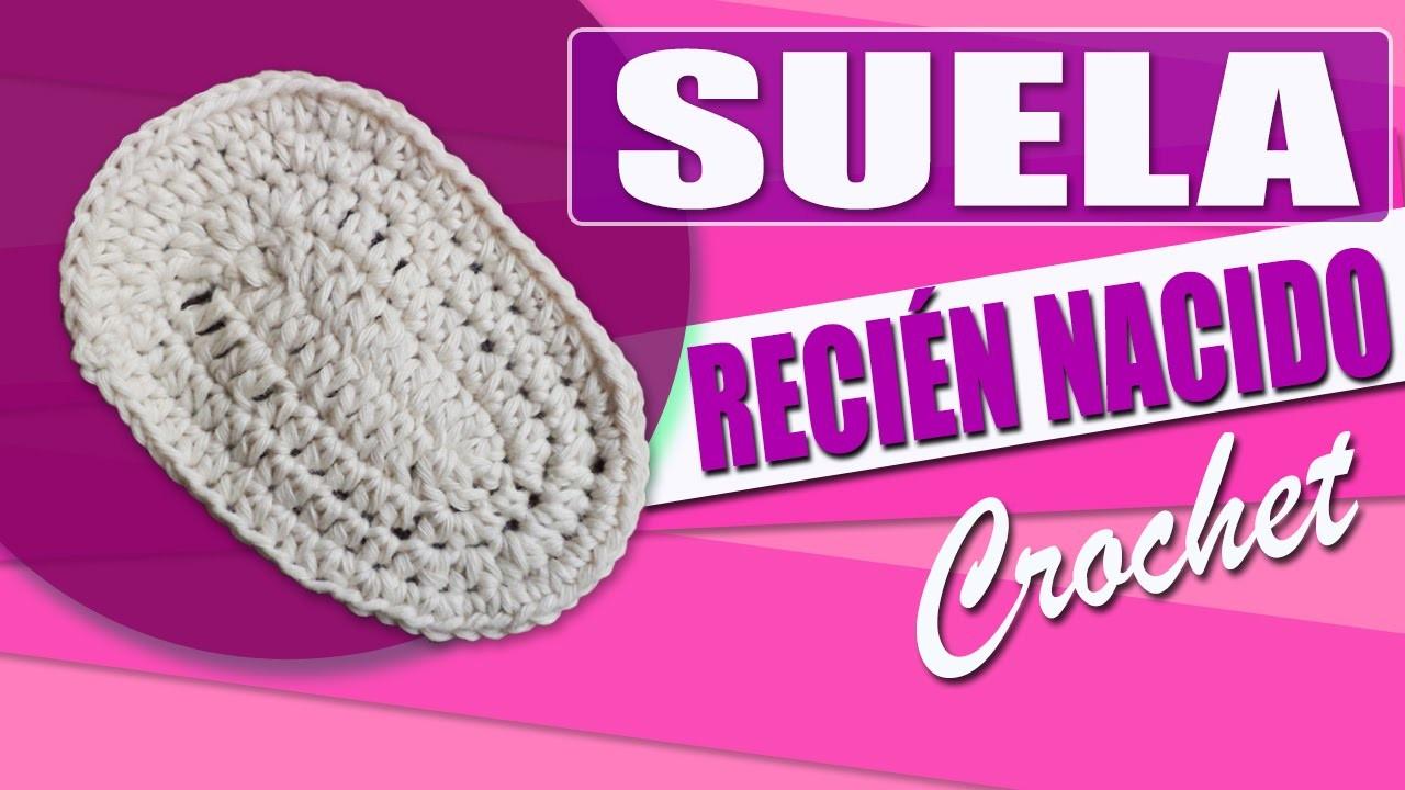 Suela Para Zapatos - Tejidos a Crochet Para Bebe Recien Nacido