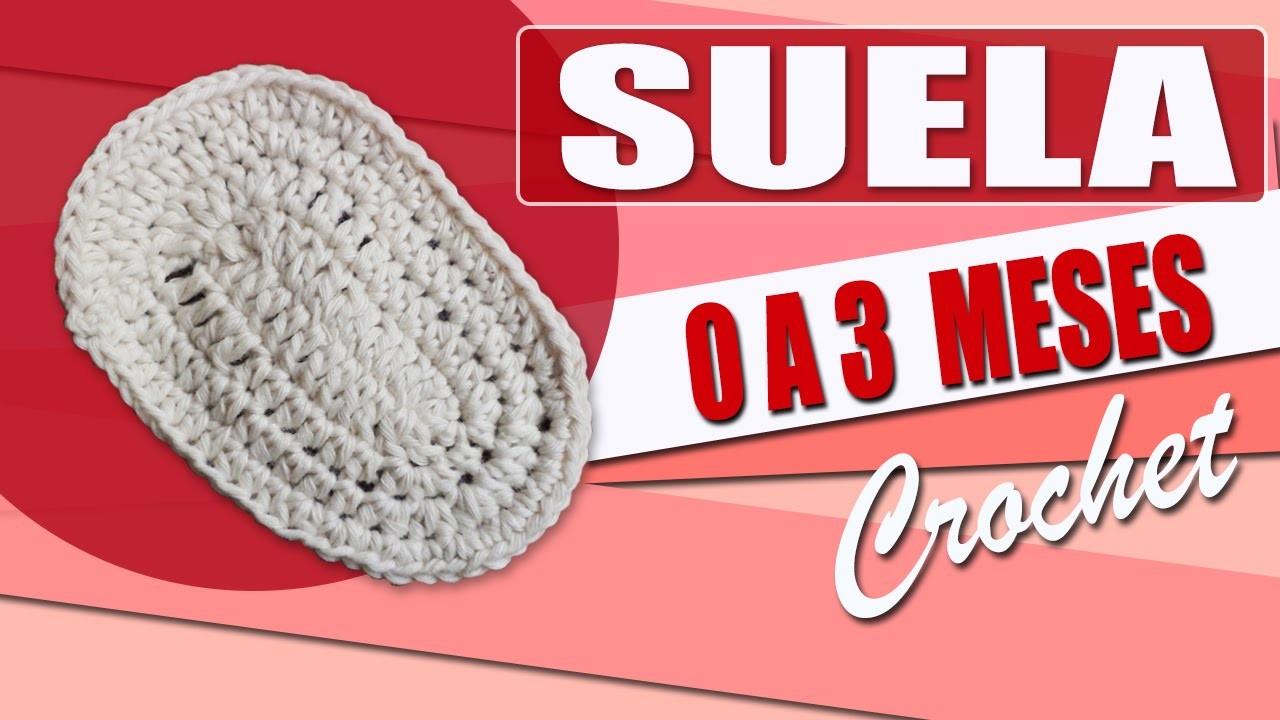 Suela Para Zapatos  - Tejidos a Crochet Para Bebe de 0 a 3 Meses