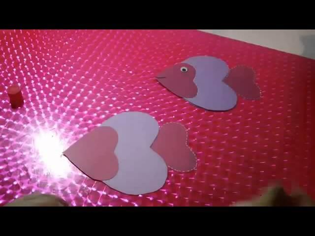 Tarjeta pescadito Scrapbook original   Regalos creativos para San Valentin
