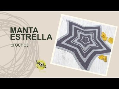 Tutorial Manta Estrella Crochet o Ganchillo en Español