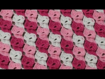 Cobija 3 Colores Crochet