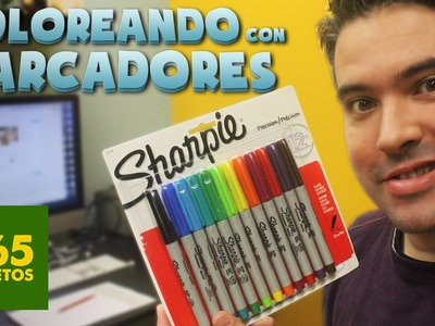 COLOREANDO CON MARCADORES SHARPIE - MATERIALES DE ARTE  -  Sharpie Unboxing y Review