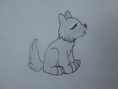 Cómo dibujar un lobo aullando