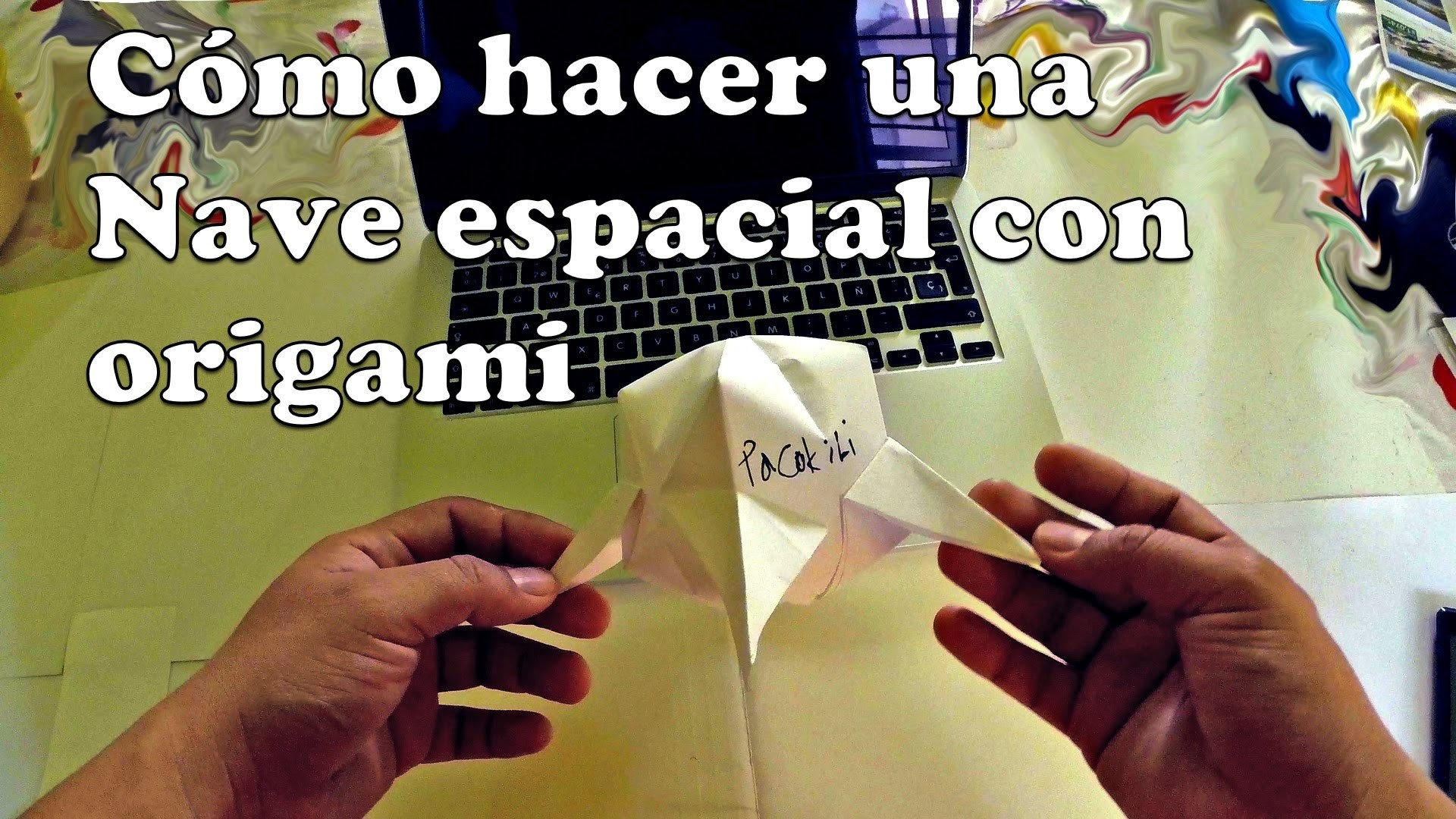 Cómo hacer una Nave espacial con una hoja de papel - Origami
