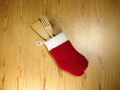 Cómo tejer con telar un calcetín para Navidad (Tutorial DIY)