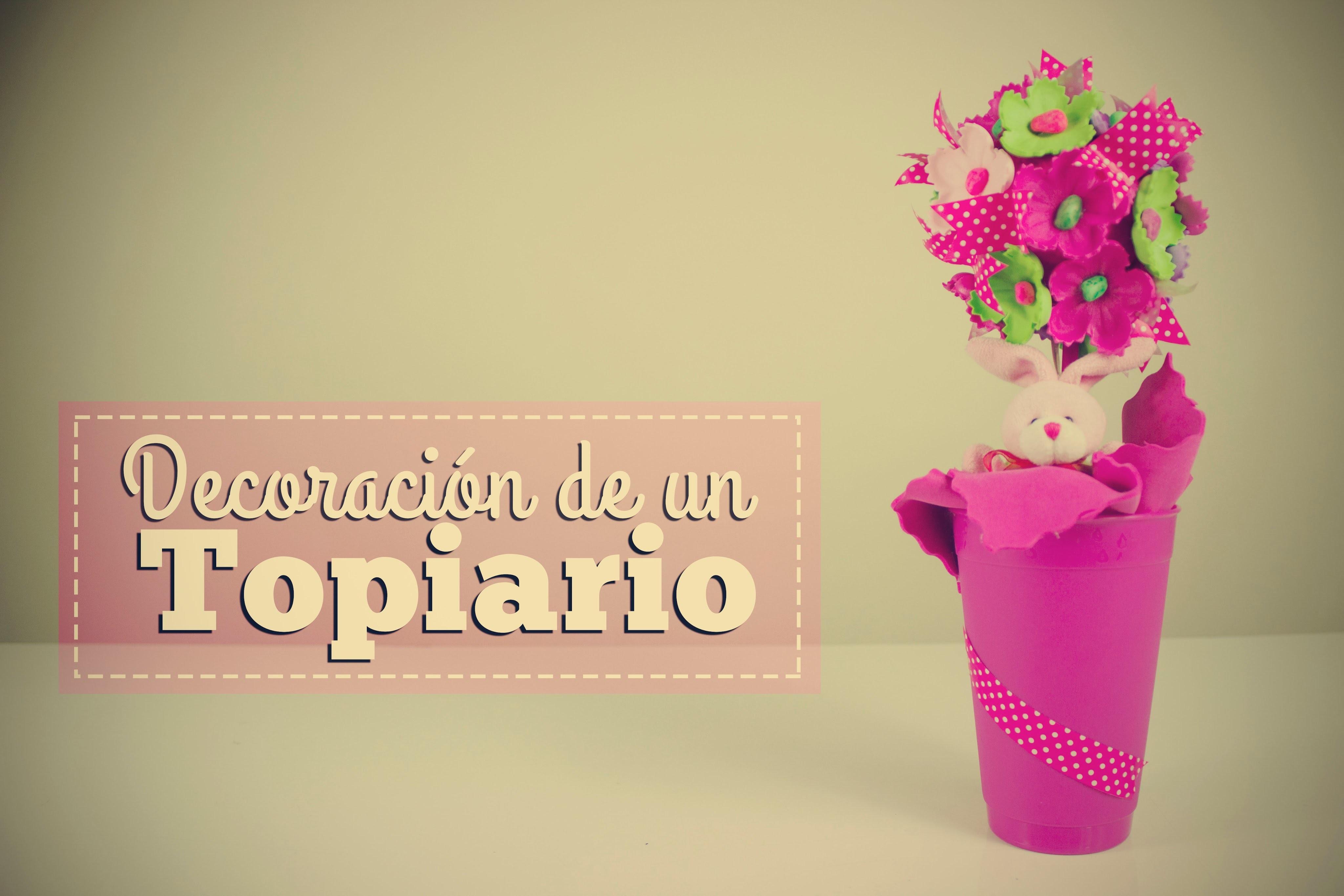 DECORANDO UN TOPIARIO. DECORATING A TOPIARY