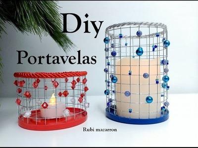 Diy. Portavelas reciclado ( especial navidad )