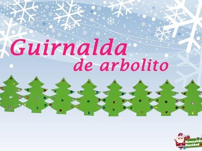 GUIRNALDA NAVIDEÑA EN FORMA DE ARBOLITOS » Manualidades Navidad