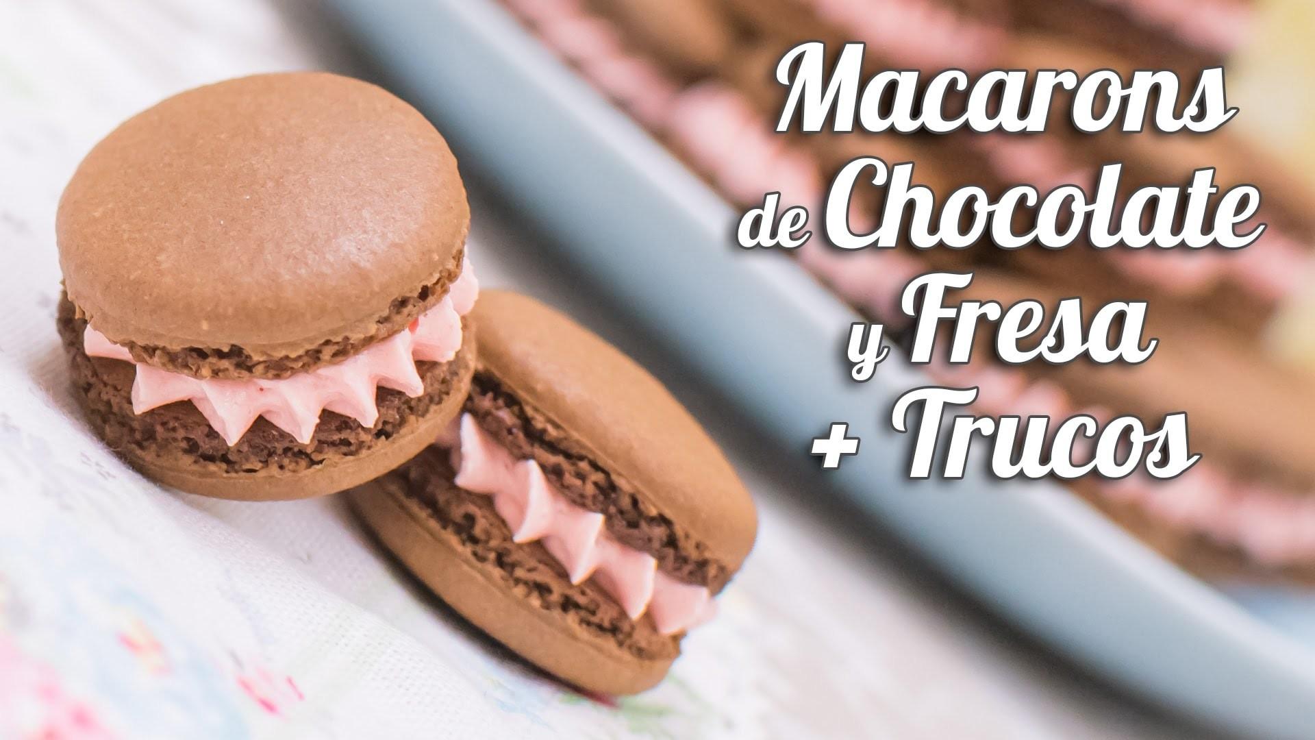 Macarons de chocolate y fresa + Trucos para macarons perfectos | Quiero Cupcakes!
