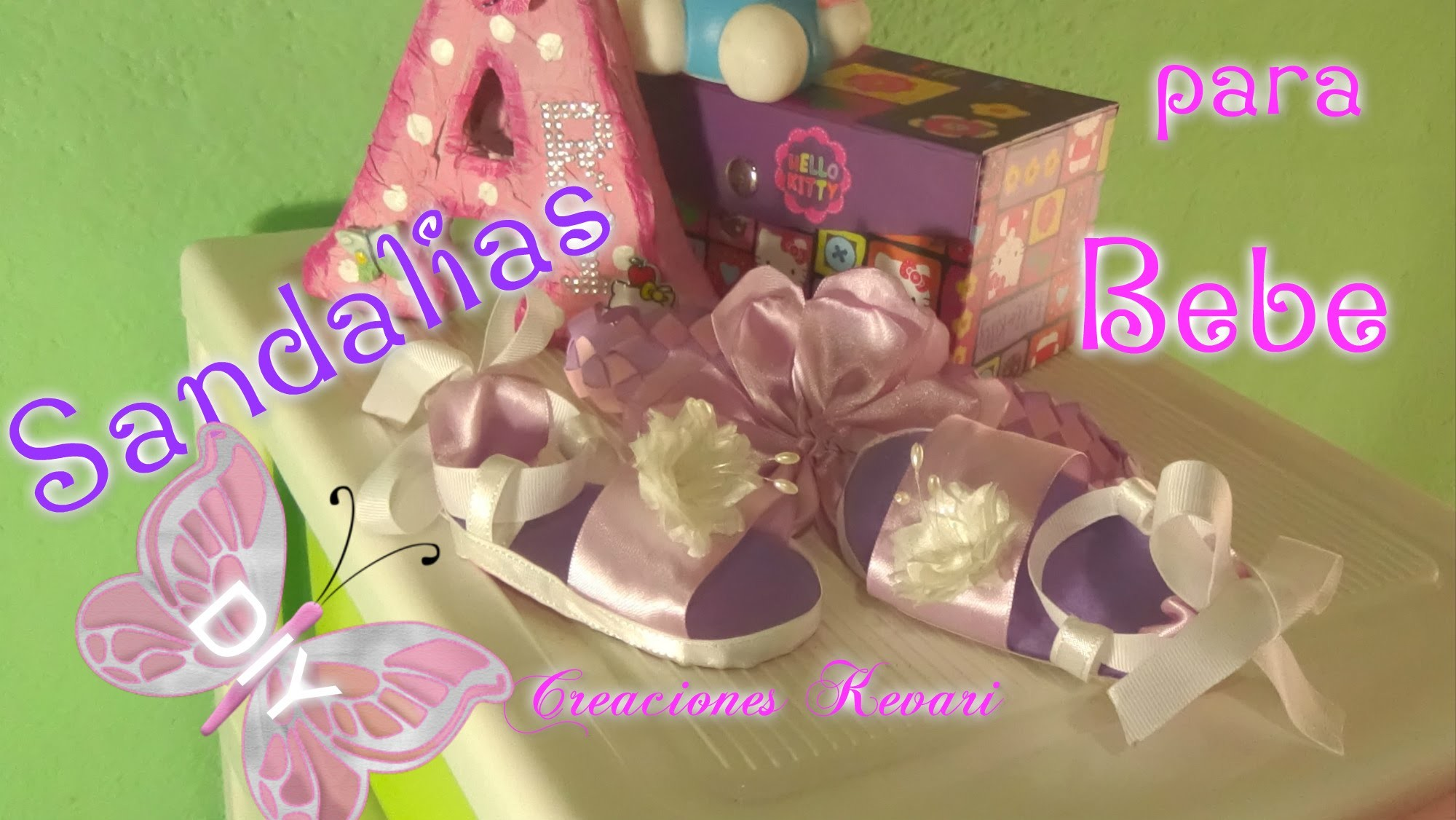 Sandalias para Bebe en foamy. Easy Baby Sandals Shoes