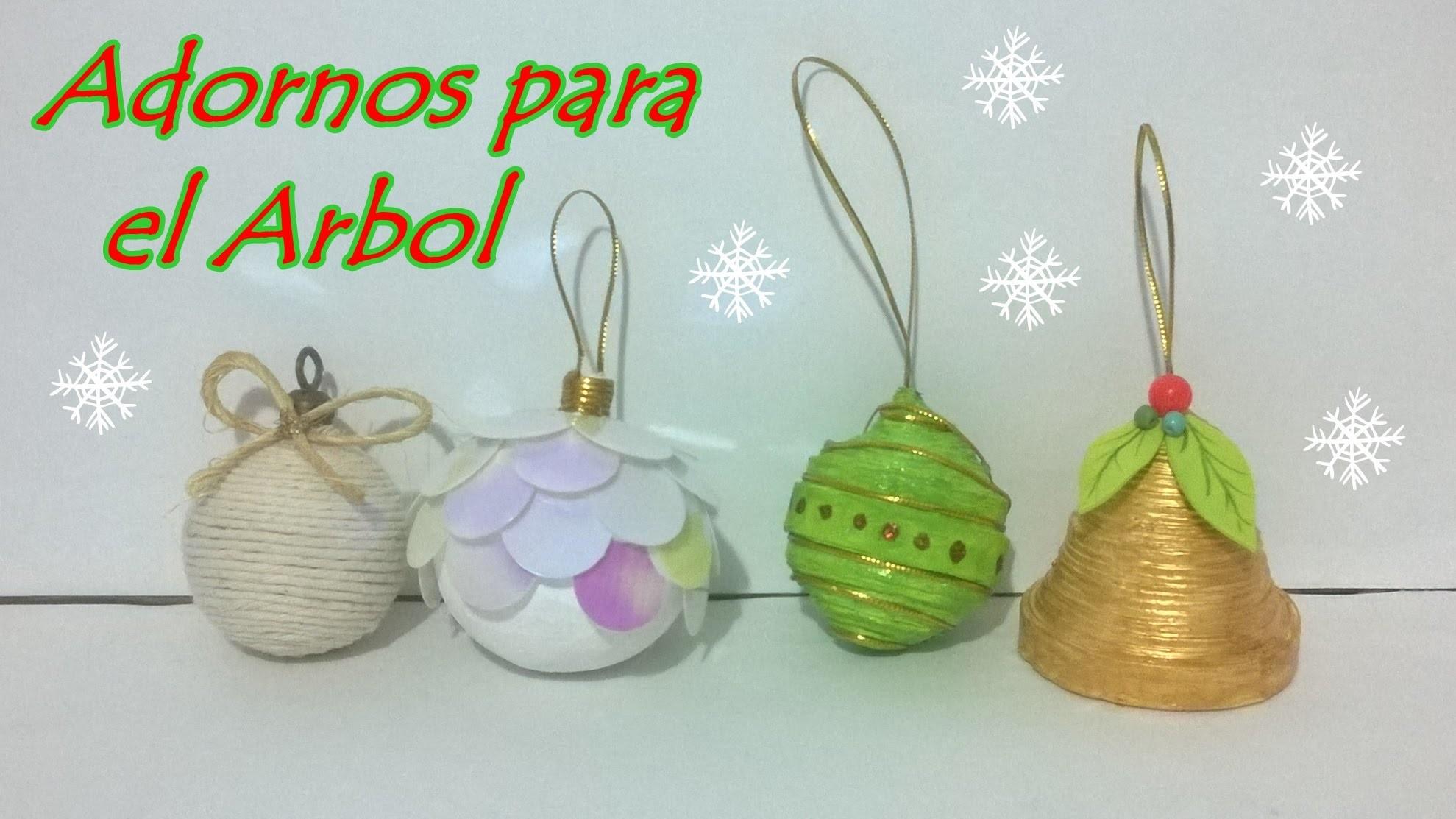 4 ideas de Esferas para el Árbol!  Navidad!