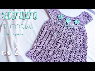 Aprende a tejer un vestido para bebé paso a paso (2 de 2)