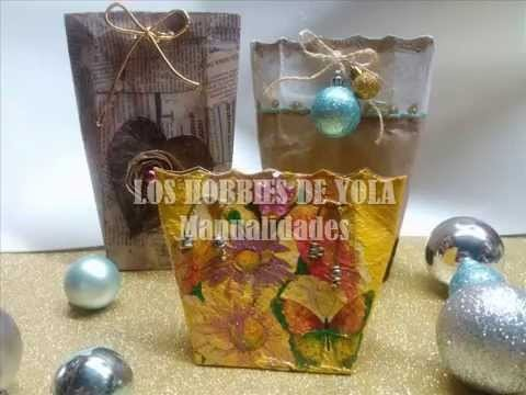 Bolsita de regalo con tetrapak. Gift bag wrapping ideas recycling