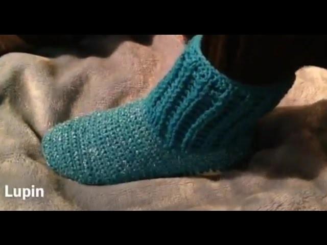 Bota tejIda para dama. crochet. zapatos tejidos.