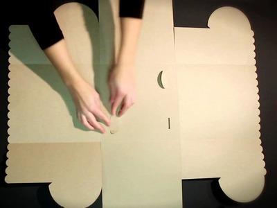 Caja para tartas y pasteles - Vídeo de montaje ref. 2230_L SelfPackaging