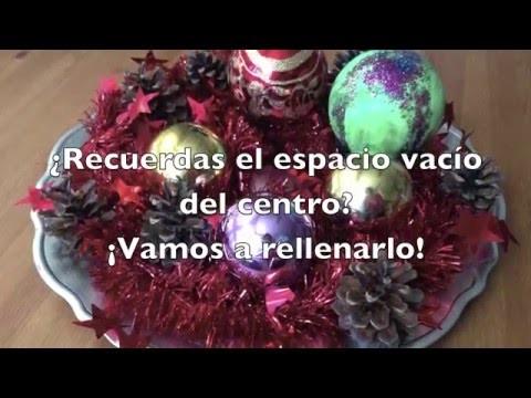 Centro de mesa de Navidad DIY
