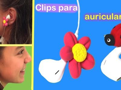 Cómo hacer clips de auriculares. Earphone  clips