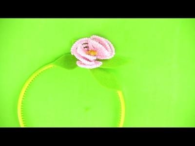 Cómo hacer diadema de flores con abalorios