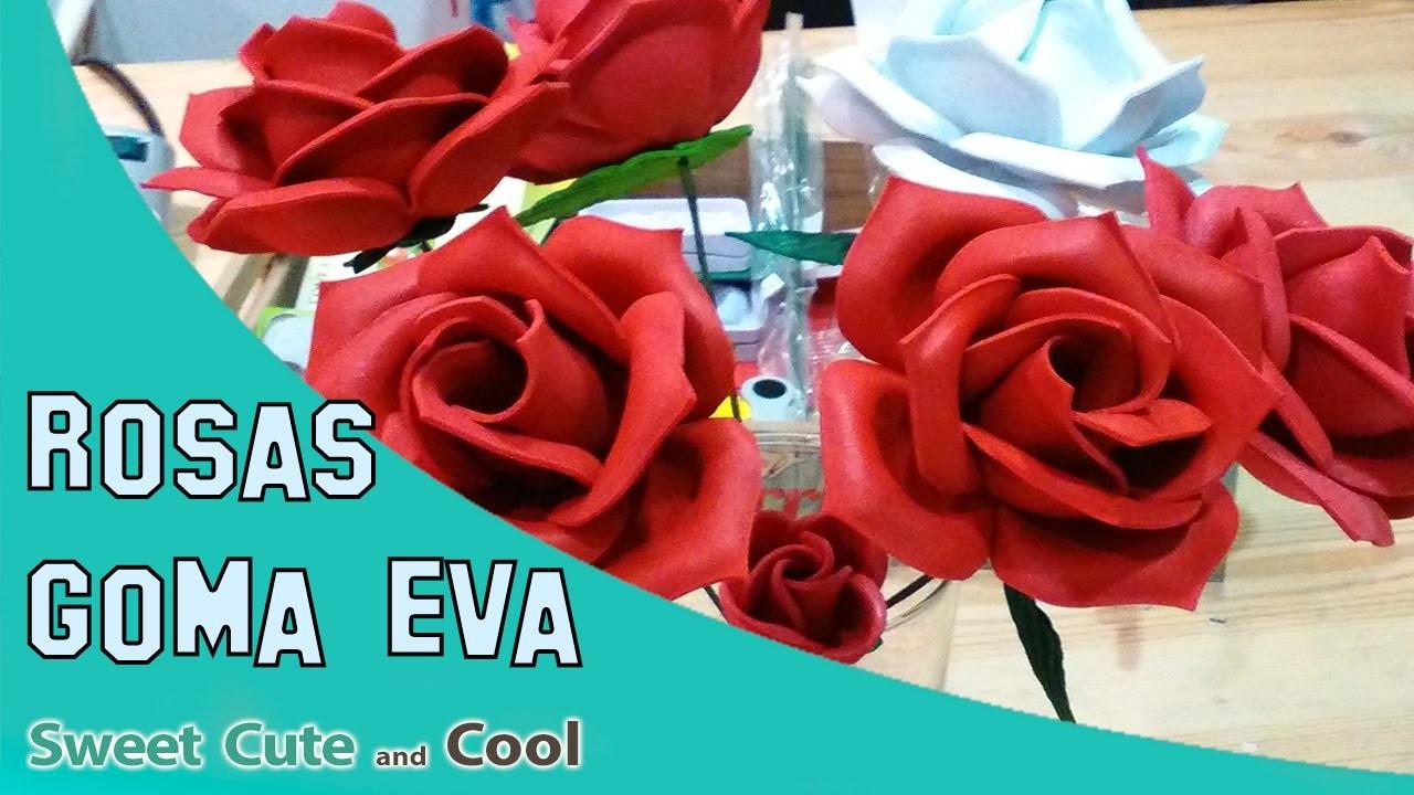 Como hacer flores con Goma Eva o Foam. Termoformado con moldes