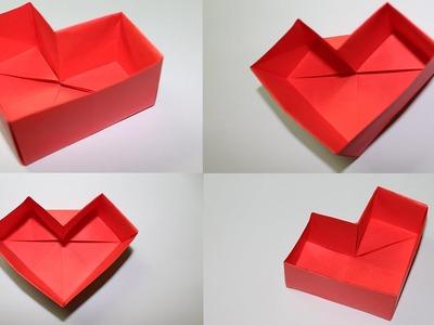Como hacer una caja de papel en forma de corazon
