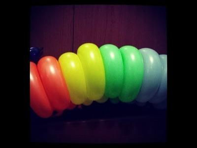 Como hacer una oruga o un gusano con globos