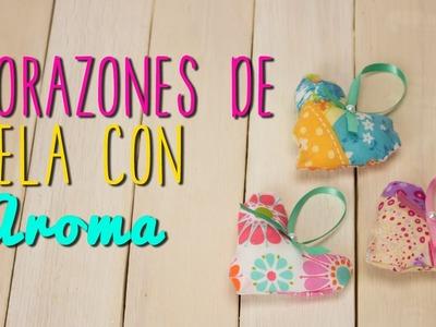 Corazones de tela Paso a Paso - Corazones Aromatizantes Caseros - DIY - Mini Tip#68