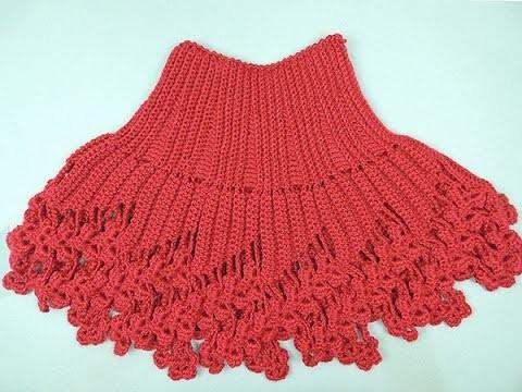 Crochet : Capa - Cuello