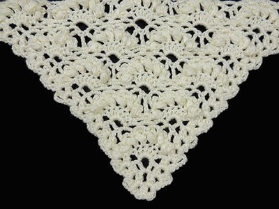 Crochet : Punto Abanico Puff en Relieve en