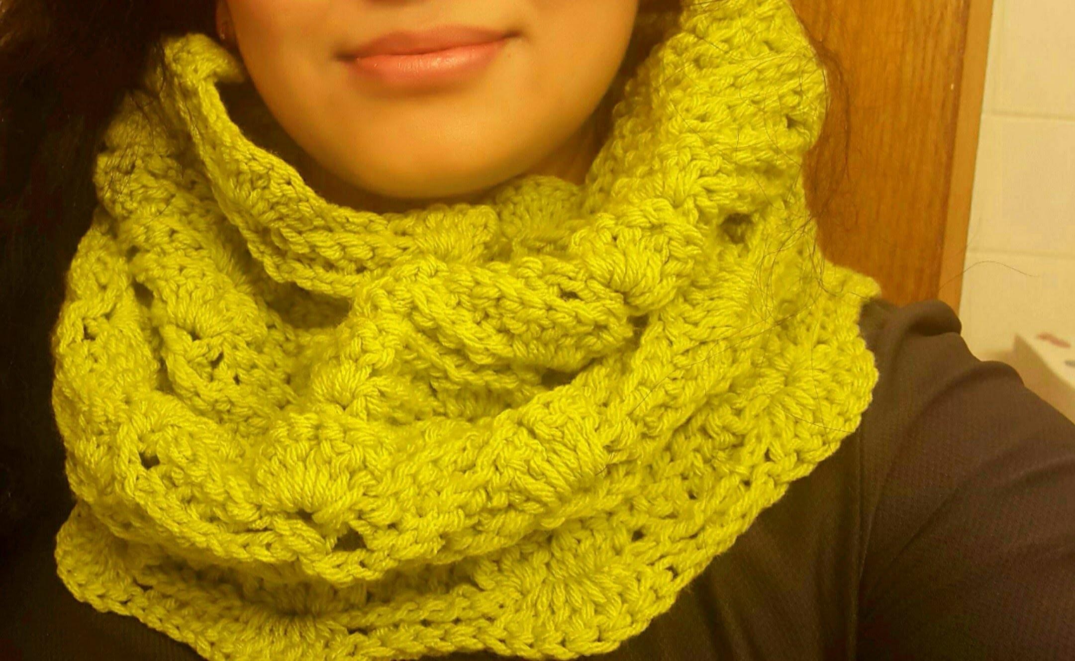 Cuello bufanda tubular en crochet