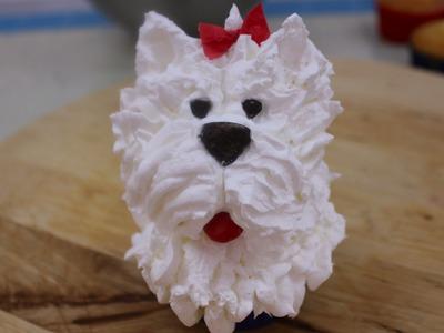 Cupcake o panquecito de perrito. Decorate a cupcake