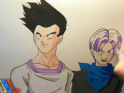 Dibujando a: Goten y Trunks (DBGT)