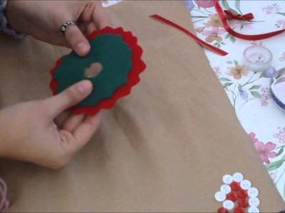 """Esferas o adornos de """"Coronitas Navideñas"""" (manualidad)"""