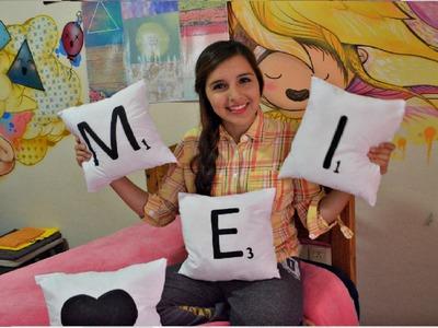 Haz Almohadas SCRABBLE!- Decora o Regala.Melina Sandoval