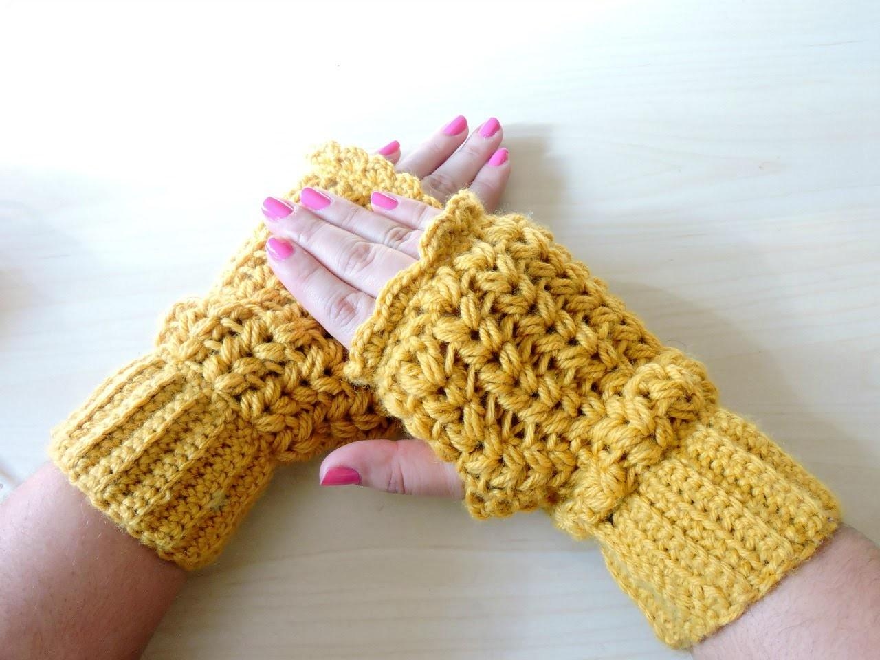 Mitones de Ganchillo - Crochet Mittens - Tutorial paso a paso